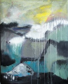 Impressions from the fiord, Acrylics, 80 x 100 cm