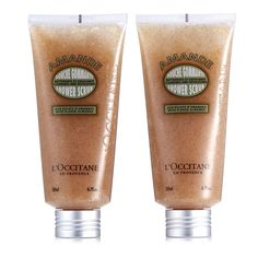 209563 - L'Occitane Almond Scrub Duo QVC Price: £28.00 + P&P: £3.95  A duo of Almond Scrub; a foaming, melting gel formula that cleanses and exfoliates to help remove impurities and dead cells, leaving skin feeling soft, smooth and delicately fragranced with the scent of almond tree flowers. Why not treat yourself and a loved one to the gift of fabulous skin with this two-piece set from L'Occitane.