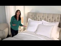 Our Lifestyle Director Sally Horchow shows you how to make your bed fabulous! #horchow #video #bed @VeryGoodLooking