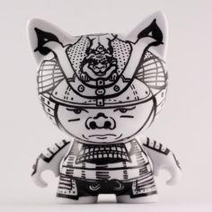 Customised 425 inch Designer Vinyl Toy Samurai by OUTandOUTdesign
