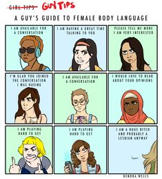 A dudebro's guide to women's body language.