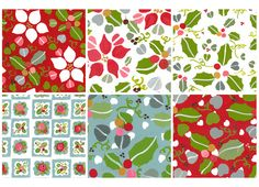 Printable Christmas theme paper for scrapbooking and more