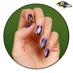 NFL Fanicure - Baltimore Ravens