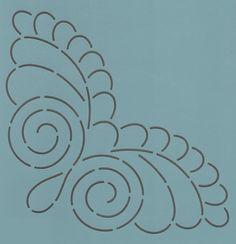 "Dancing Feather Corner 8"" - The Stencil Company"