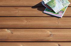 Lame de terrasse en bois Bornéo en Pin Classe 4 marron #lame #terrasse #bois #esthétique #contemporaine #durable