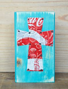 Recycled Upcycled Soda Can Art Red Coke Coca Cola by frescade, $12.00