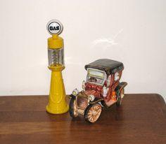 Vintage Andrea by Sadek Rickety Car and Vintage Avon Gas Pump by CookieGrandma60, $24.99