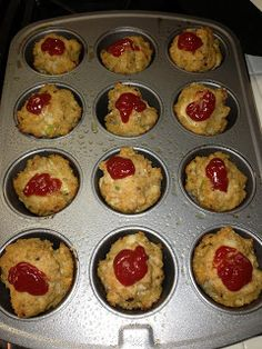 Mini Turkey Meatloaves Recipe Diet, dinner, high protein, snack, meal planning, easy snacks post workout