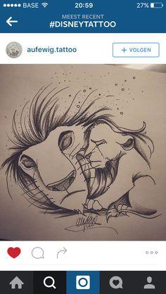 Mufasa simba drawing