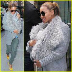Beyonce Carries Blue Ivy in a Fur Baby Sling
