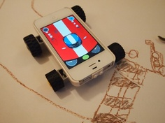Turn your iPhone into a racing car, ice cream van, or river boat with Chris O'Shea's first app, Makego. Then, if you like, give it to your children to play with...