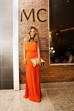 Meu look – Orange dress!