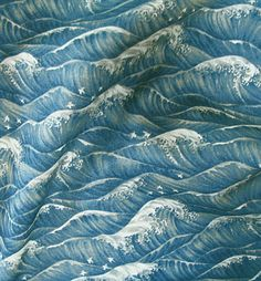 Japanese Cotton Broadcloth Waves