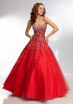 Prom Dress From Paparazzi By Mori Lee Style 95073 Beaded Tulle Ball Gown