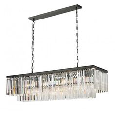 CDI International 1920 12 Light Crystal Chandelier