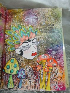 Art journal page by Chris Lim