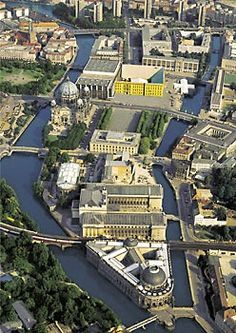 The Museum Island with Metropolis Palace Creativeness 1993 Museumsinsel Berlin, Berlin Today, Berlin City, Berlin Germany, Berlin Travel, Germany Travel, Panorama Berlin, Humboldt Forum, Cool Places To Visit