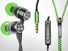 Zipbuds Fresh are the new innovative earphones that have a patented Zipper Integrated Cabling that houses the cords. When they are not in use, just zip up the Zipbuds' cord and ensures that it never gets tangled. Besides solving your tangled cord problems, Zipbuds Fresh look really cool as well.