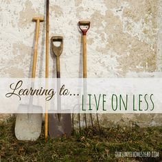Learning to Live on Less - The homesteading movement is taking shape in communities across the country. Many people are being inspired to live a simpler life while learning to be more self-sufficient. Many families are tired of the face-paced lifestyle and are choosing to slow down and learn to live on less. #simpleliving