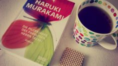 Currently enjoying my german edition of colorless Tsukuru Tazaki and his years of pilgrimage by Haruki Murakami. Even bought a matching cup :D - Inz.