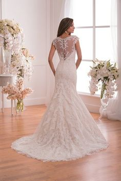 Jasmine Bridal as much as I dislike the davinci this one is very similar, but I love the illusion back. much prettier than a naked back