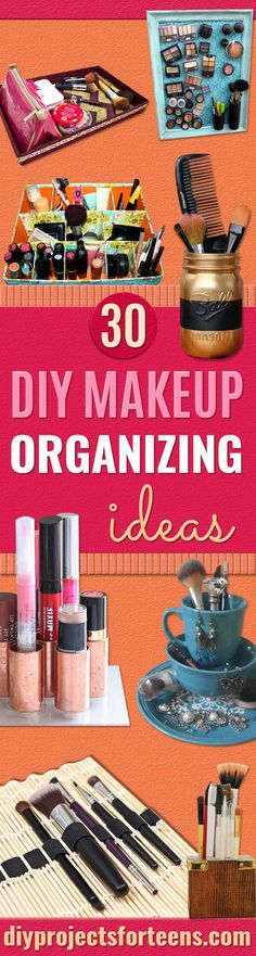 DIY Makeup Organizin