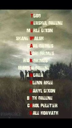The Walking Dead Cast Members ~ Season now on 4 of those people are left.on to season 8 Glenn The Walking Dead, The Walk Dead, Walking Dead Quotes, The Walking Death, Walking Dead Tv Series, Walking Dead Funny, Daryl Dixon, E Cards, Riggs Chandler