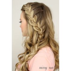 50 Fabulous French Braid Hairstyles to DIY Divine Caroline ❤ liked on Polyvore featuring hair, hairstyles, backgrounds, hair styles and beauty