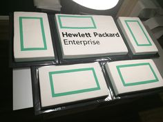 tarta logo empresa informática Hewlett Packard, Food, Fondant Cakes, Lolly Cake, Candy Stations, Essen, Meals, Yemek, Eten