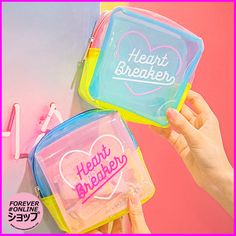 HEART BREAKER COSMETIC JELLY BAG sold by Foreveronline. Shop more products from Foreveronline on Storenvy, the home of independent small businesses all over the world. Cosmetic Storage, Travel Cosmetic Bags, My Bags, Purses And Bags, Purse Wallet, Pouch, Jelly Bag, Cute Purses, Travel Makeup