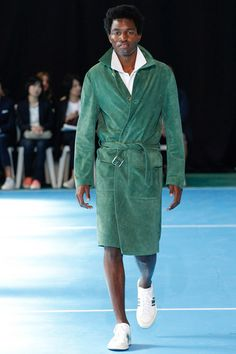 Menswear trend: Suede. Seen here at Umit Benan.