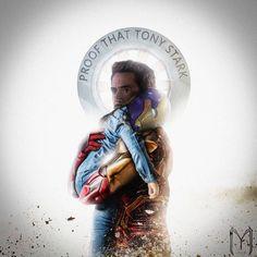 Proof that Tony Stark has a heart (credit: Marvel Fan, Marvel Dc Comics, Wanda Marvel, Robert Downey Jr., Ironman, Iron Man Tony Stark, Nerd, The Avengers, Marvel Memes