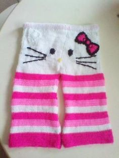 Hello Kitty knitted pants for toddlers