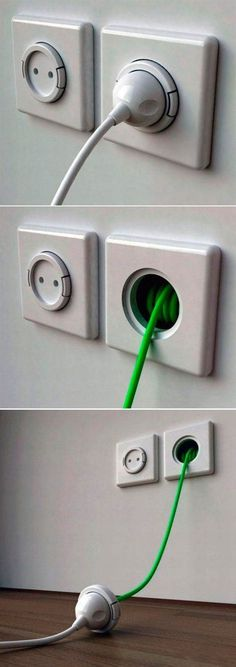 creative invention cable wall plug