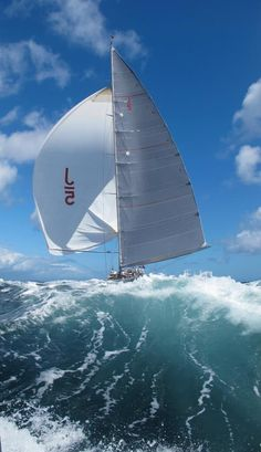 sailing J-classe beautiful wave...