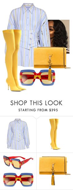 """""""Untitled #3455"""" by ma-rae ❤ liked on Polyvore featuring TIBI, Balenciaga, Gucci and Yves Saint Laurent"""