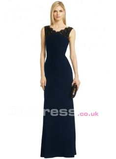 Natural Sleeveless Crystal Floor-Length Long Evening Gowns