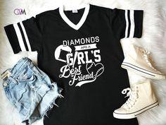 Diamonds are a Girl's Best Friend, Baseball Mom Shirt, Softball Mom T-Shirt - Jersey Shirts