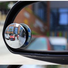 Buy 1 Pair 360 Degree Rotable Rimless Universal wide angle Round blind spot mirror Car Rearview Convex Mirror for parking safety Convex Mirror, Mirror Set, Car Mirror, Rear View Mirror, Car Blinds, Car Side View, Parallel Parking, Driving Safety, Sidecar