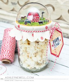 Farm Fresh Treat Jar by Ashley Cannon Newell for Papertrey Ink (December 2015)