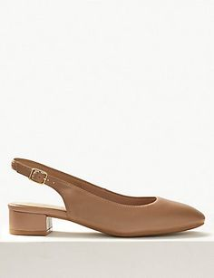 Shop this Wide Fit Leather Slingback Shoes at Marks & Spencer. Browse mny other at Marks & Spencer NZ Holiday Shoes, Slingback Shoes, Get The Look, Chic, Fitness, Model, Leather, How To Wear, Fashion
