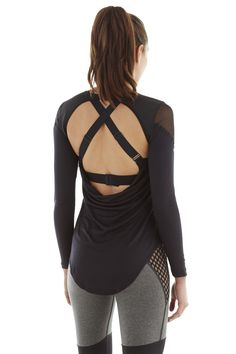 Gallant Top w/ Fine Mesh - Black