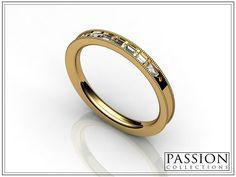 Yellow Gold 5 Baguette SI 2 Diamonds Pear Shape Total Weight of Stones # bride Wedding Rings, Wedding Bride, Bangles, Bracelets, Cartier Love Bracelet, Pear Shaped, Custom Jewelry, Gemstone Rings, Engagement Rings