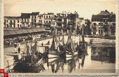 Belgie Blankenberge, de haven 1953