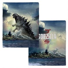 """Just like Godzilla, this blanket is generously sized and features a different scene of the King of Monsters on each side.  The ocean scene featured on this blanket is from the 2014 film, Godzilla.  With a design on each side, this soft fleece blanket is perfect for the couch, car, or an outdoor activity when you need to stay warm. It's machine washable and the printing won't run or distress. The cozy blanket measures approximately 50"""" X 60"""". Fabric is 100% polyester fleece."""
