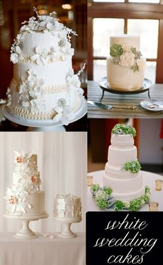 gorgeous white wedding cakes