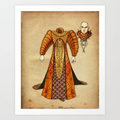 Sultan Hamhead Art Print by ChrisAbles - $15.00
