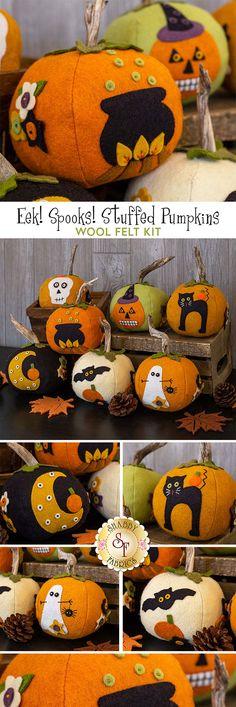 Spook Halloween Jack O Lantern Ghost Pumpkins 16 Machine Embroidery Designs