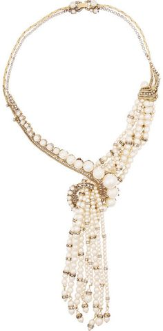 Erickson Beamon Stratosphere gold-plated, faux pearl and Swarovski crystal necklace