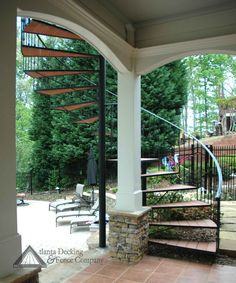 View of stairs from under deck